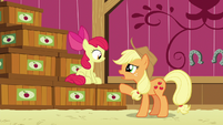 Applejack --kept track of what went into which crate-- S6E23