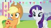 Applejack and Rarity hears Countess Coloratura S5E24