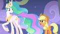 Applejack approaching Princess Celestia S8E7.png