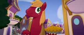 Big McIntosh appears holding a pie MLPTM