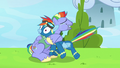 Bow Hothoof tightly hugging Rainbow Dash S7E7.png