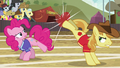 Braeburn bucks the ball toward Fluttershy S6E18.png