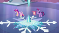 Cadance paces back and forth; Twilight writing the spell S6E2.png