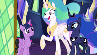 "Celestia ""ceremony is in good hooves"" S9E13"