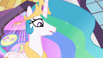 Celestia 'Good luck, my little ponies' S2E01