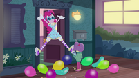 Clown Pinkie Pie jumping with excitement EGDS3