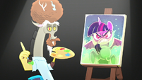 Discord makes a new portrait of jealous Twilight S5E22