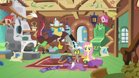 Discord sees Fluttershy packing a bag S6E17