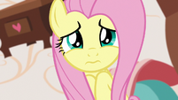Fluttershy looking sad at Discord S7E12