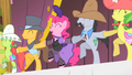 Pinkie Pie and Appleloosa Ponies Cancan S1E21.png