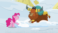 Pinkie Pie pretending to like snow beds S7E11.png