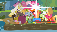 Pinkie Pie taking a picture S4E09