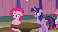 Pinkie looking away with uncertainty S9E16