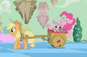 Pinkie on wagon S2E02