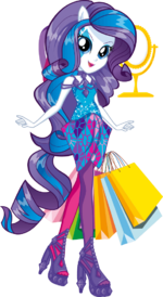 Rarity Rainbow Rocks character bio art