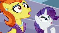 Rarity and Stormy Flare shocked S5E15