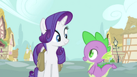 Rarity sees Spike walking S4E23