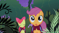 Scootaloo and Apple Bloom in the Everfree Forest S1E17.png