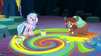 Silverstream and Yona standing on a mural S9E3