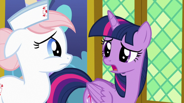 """File:Twilight """"came down with the horsey hives"""" S7E3.png"""