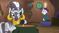 "Zecora ""all of these mane-losing blues"" S7E19"