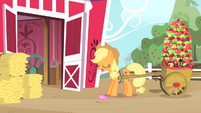 Applejack about to pick up the invitation S1E25