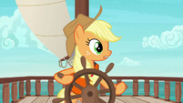 Applejack hears Pinkie Pie laughing S6E22