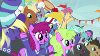 Buckball fans cheer for Team Ponyville S9E6
