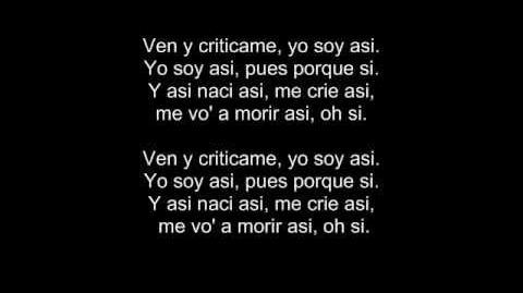 Calle 13 - Ven y Criticame-Subtitulada http www.Pablo-Manosalva.es.tl