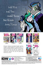 Comic issue 19 credits page