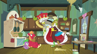 Discord dressed like royalty S8E10