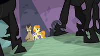 Dr. Hooves, Golden Harvest and Tornado Bolt in alley S2E26