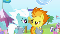 Fleetfoot and Spitfire look at each other S4E10