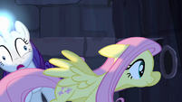 Fluttershy races past Rarity S4E03