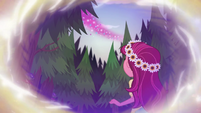 Gloriosa Daisy looking up at the trail of magic EG4