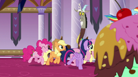 Mane Six proceed toward throne room S9E2