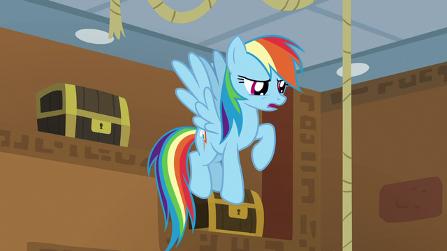 "File:Rainbow Dash ""griffons barely like each other!"" S7E2.png"