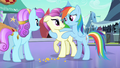 Rainbow Dash without crystal heart S3E1.png