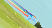 Rainbow diving down a hill S2E8
