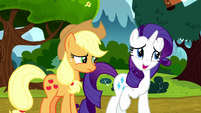 "Rarity to AJ ""sounded like you said"" S8E18"