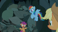 "Scootaloo ""we can't get out!"" S7E16"