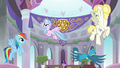 Silverstream and Gallus fly around the lobby S8E1.png