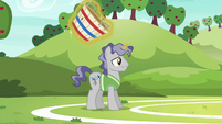 Star Bright trying out for Ponyville's buckball team S6E18