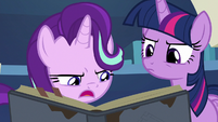 Starlight continues to read Star Swirl's writings S7E25