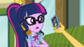 Sunset Shimmer holding out Twilight's phone CYOE3c.png