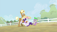 Trenderhoof holds Rarity S4E13
