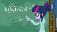 "Twilight Sparkle solving for ""x"" EGDS6"