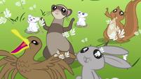 Animals cheering Fluttershy S2E22