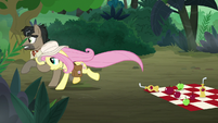 Dr. Caballeron and Fluttershy run away S9E21
