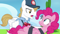 "EMT Pony ""didn't sustain any internal injuries"" S7E23"